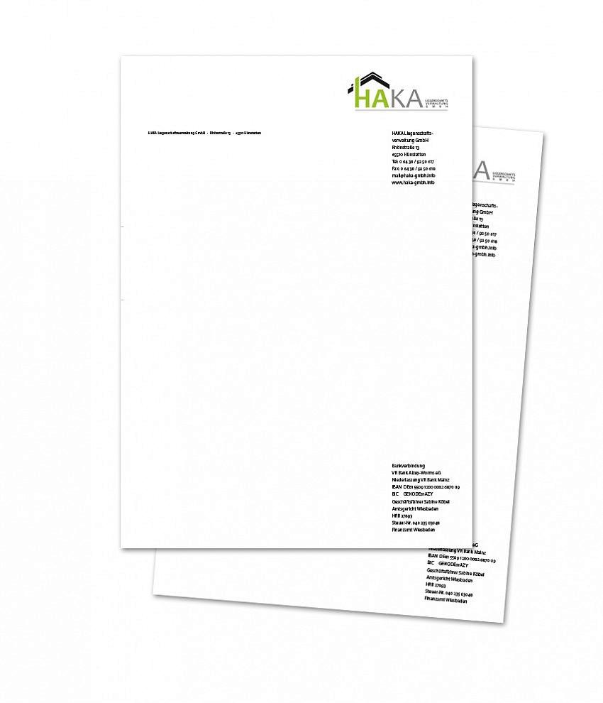 HAKA GmbH – Briefbogen